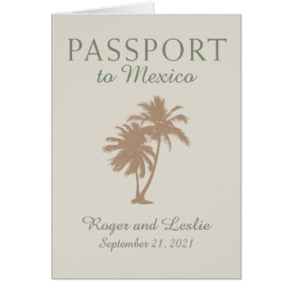 Puerto Vallarta Mexico Wedding Passport Card