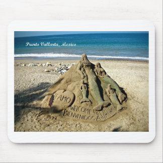 Puerto Vallarta Sand Sculpture Mouse Pad
