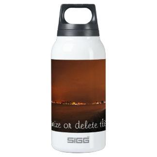 Puerto Vallarta Skyline at Night; Customizable 10 Oz Insulated SIGG Thermos Water Bottle