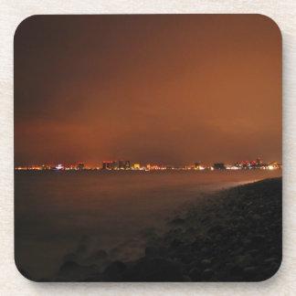 Puerto Vallarta Skyline at Night; No Greeting Coaster