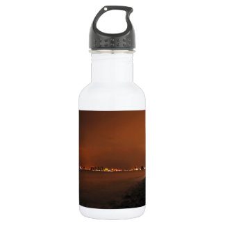 Puerto Vallarta Skyline at Night; No Greeting 18oz Water Bottle