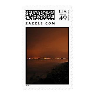 Puerto Vallarta Skyline at Night; No Greeting Stamp