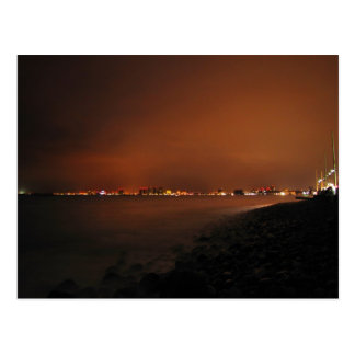 Puerto Vallarta Skyline at Night; No Greeting Postcard