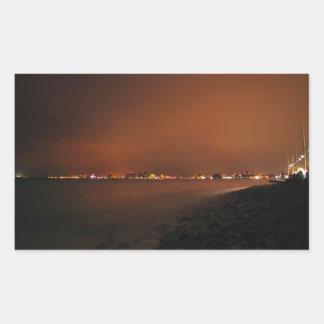 Puerto Vallarta Skyline at Night; No Greeting Stickers