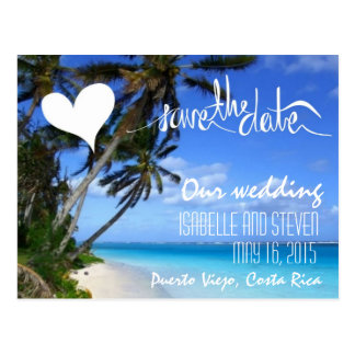 Puerto Viejo, Costa Rica Save the Date Postcard