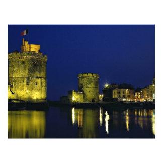Puerto viejo, La Rochelle, Francia Tarjetas Publicitarias