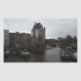 Puerto viejo, Rotterdam Rectangular Pegatinas
