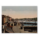 Puerto, vintage Photochrom de San Sebastián, Españ Posters