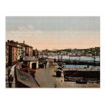 Puerto, vintage Photochrom de San Sebastián, Españ Postal