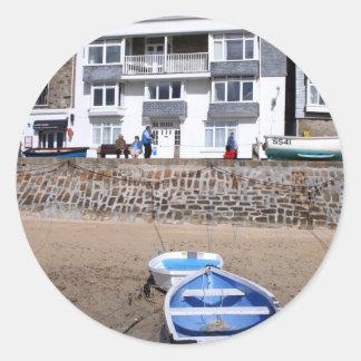 Puerto y barco de St Ives