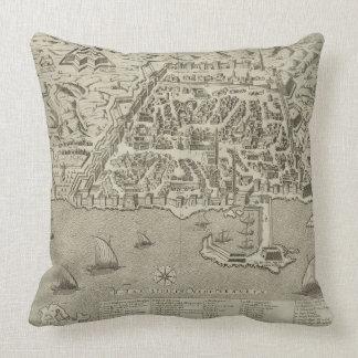 Puerto y ciudad de Argel, c.1572 (grabado) Cojín