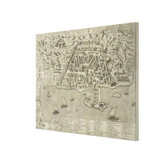 Puerto y ciudad de Argel, c.1572 (grabado) Impresión En Lienzo Estirada