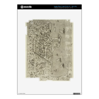 Puerto y ciudad de Argel, c.1572 (grabado) Pegatinas Skins Para iPad 3