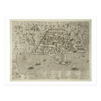 Puerto y ciudad de Argel, c.1572 (grabado) Postales