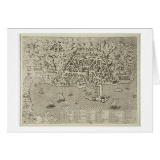 Puerto y ciudad de Argel, c.1572 (grabado) Tarjeta De Felicitación