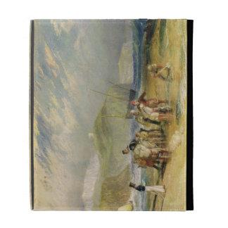 Puerto y costa a Devon, c.1830 de Folkestone (w/c
