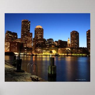Puerto y horizonte de Boston Boston es uno de lo Posters