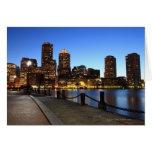 Puerto y horizonte de Boston.  Boston es uno de lo Tarjeta De Felicitación