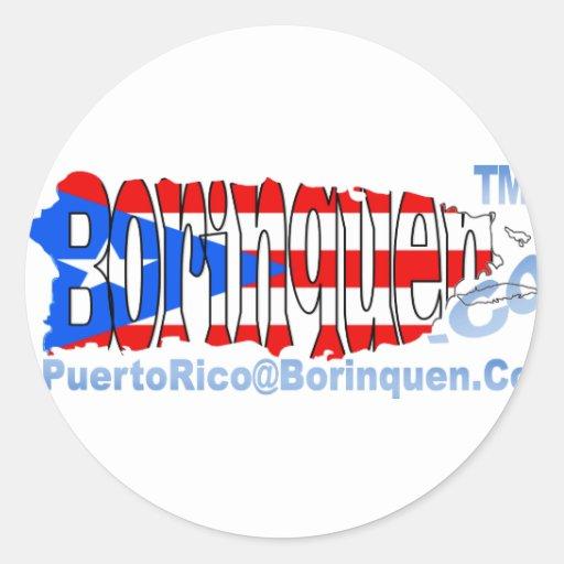 PuertoRico@Borinquen.Co Etiquetas Redondas