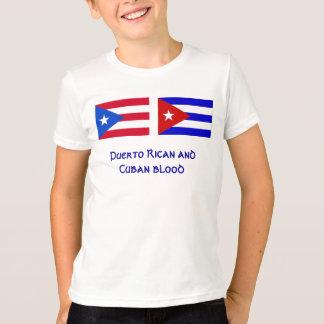 PuertoRico_flag, Cuba_flag, Puerto Rican and Cu... T-Shirt