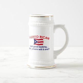 Puertorriqueño apuesto jarra de cerveza