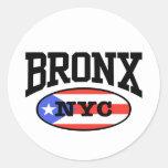 Puertorriqueño de Bronx Etiquetas Redondas