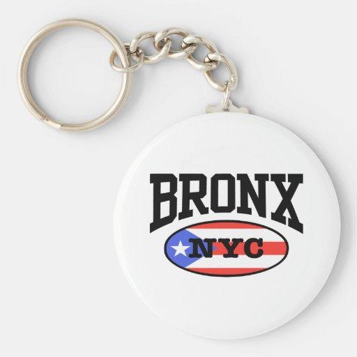 Puertorriqueño de Bronx Llaveros Personalizados