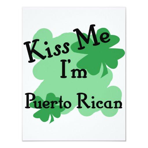 Puertorriqueño Invitación 10,8 X 13,9 Cm