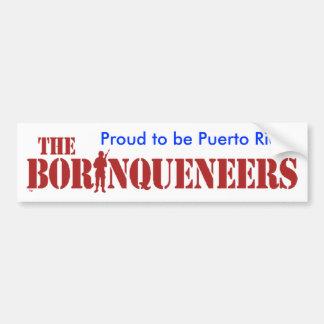 Puertorriqueño orgulloso - pegatina para el parach pegatina de parachoque