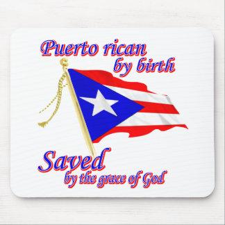 Puertorriqueño por el nacimiento ahorrado por la g tapetes de ratones