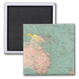 Puertos Australasian, polinesios Imán Cuadrado