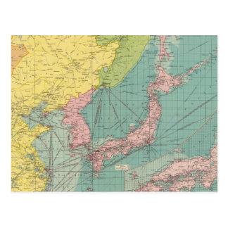 Puertos chinos, japoneses tarjeta postal