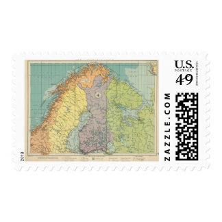 Puertos europeos septentrionales estampillas