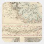 Puertos y puertos septentrionales en los Estados Pegatina Cuadrada