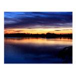 Puesta de sol en la laguna de El Rocío, Doñana Postal