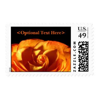 Puesta de sol rosa sello boda estampilla postage stamp