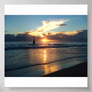 Puesta del sol 03072008 de la playa de Cottesloe Impresiones