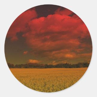 Puesta del sol 10 de Maine Pegatinas Redondas