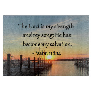 PUESTA DEL SOL 14 del salmo 118 SOBRE la FOTO del Tablas Para Cortar