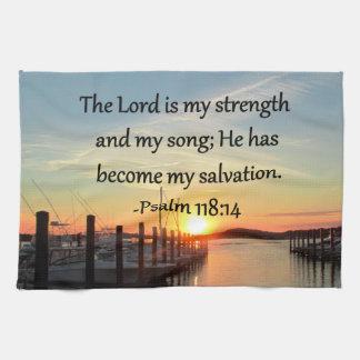 PUESTA DEL SOL 14 del salmo 118 SOBRE la FOTO del Toallas