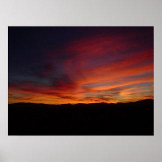 Puesta del sol 15 de Arizona Posters