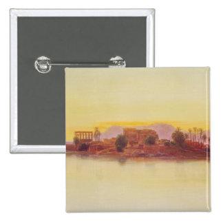 Puesta del sol, 1861 (el panel) pin cuadrado