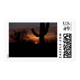 Puesta del sol 1 de AZ Sello Postal