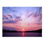 Puesta del sol 1 de Michigan Tarjetas Postales