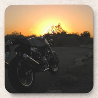Puesta del sol 1 de Moto Posavasos De Bebida