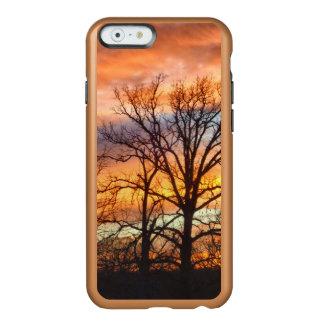 Puesta del sol 1 del invierno funda para iPhone 6 plus incipio feather shine