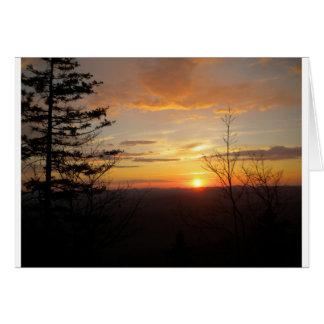 Puesta del sol 2011 tarjetón