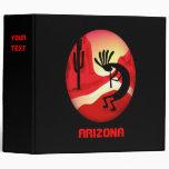 "Puesta del sol 2"" de Arizona Kokopelli carpeta neg"