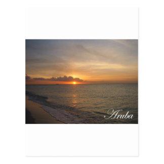 Puesta del sol 2 de Aruba Postales