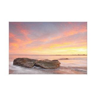 Puesta del sol 2 de la costa de la sol lona envuelta para galerías